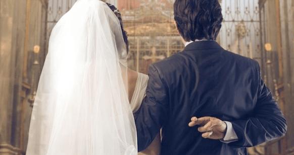 Жених уже состоит в браке
